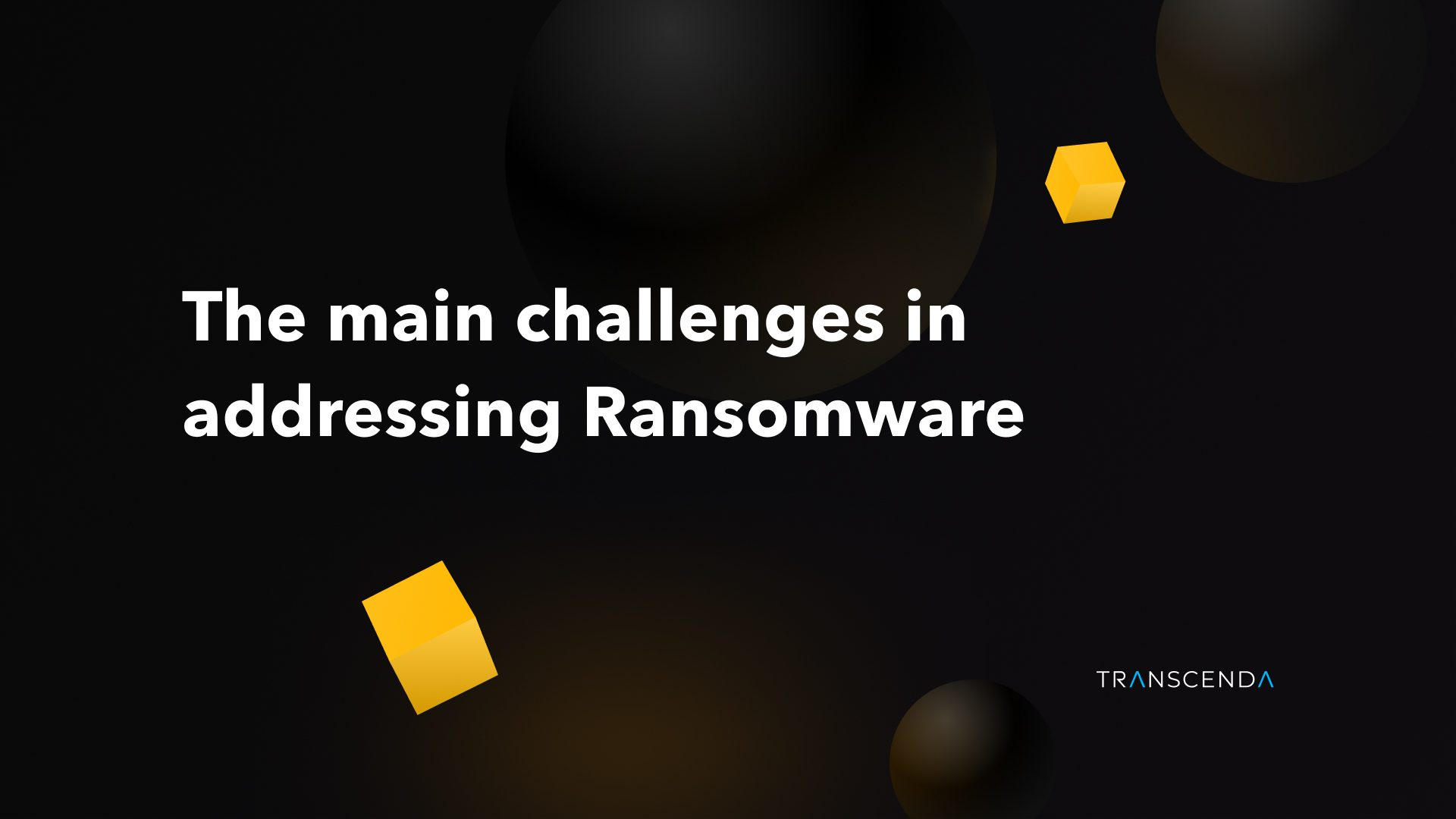 eBook: The main challenges in addressing Ransomware